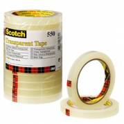 Kontortape Scotch 550 - 19mm x 66m - Gennemsigtig