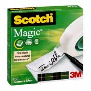Kontortape Scotch Magic 810 - 12mm x 33m - Gennemsigtig