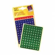 Avery manuel etiket tal 1-160 Ø8mm rød,grøn,blå (480)