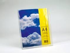 Brochureholder bord/væg 1 fag A4 højformat Klar