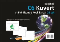 Büngers Kuvert C6 Hvid P&S - 25 stk