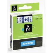 Dymo teksttape D1 40914 9mm  Blå/Hvid