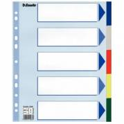 Faneblade Esselte A4+ 5-delt Flerfarvet Plast