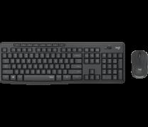 MK295 Silent Wireless Combo Desktop set, Graphite (Nordic)