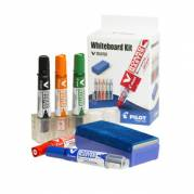 Tavlesæt whiteboard Pilot Indeholder penne, penneholder og tavlevisker