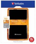 Verbatim 500GB Hard Drive 2,5'' Store 'N' Go USB 3.0, Black