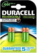 Batteri Duracell StayCharged HR03/AAA - 4 stk.